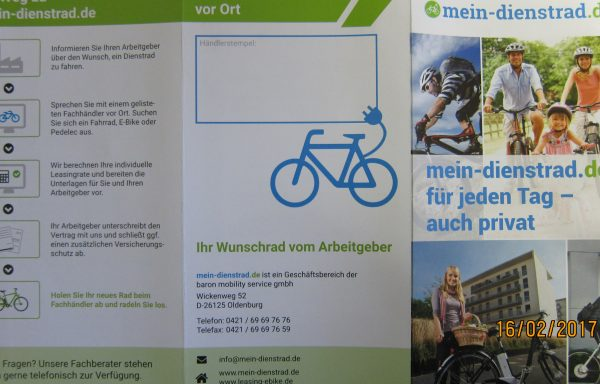 Fahrradleasing über mein-dienstrad.de Lindner u. Co. Fahrradladen Arnstadt